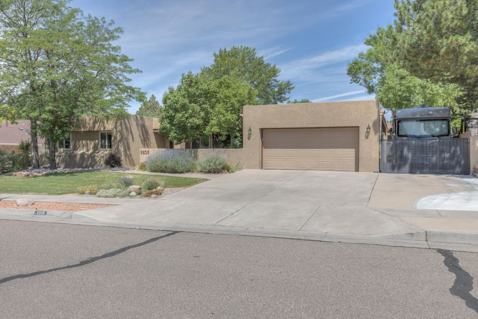 Beautiful Single Level, 4br/2.5ba + SIDE ACCESS + Pool on 0.25 acre in a well-kept, tranquil neighborhood! Top notch mechanical updates include: new windows, BRAND new TPO roof, newer stucco, new REFRIGERATED AIR & furnace! Optimal floor plan features high ceilings- open kitchen w/ generously sized breakfast nook, formal dining room, 2 living areas + office/study/bonus nook. Updated electrical has hook ups at the RV pad. Lush & quiet backyard is a garden oasis- perfect for entertaining w/ open patios, mature shade trees surrounded by colorful perennial gardens. 15 x 30 ingound gunite pool with DE filter, pump & heater. Located in a desirable neighborhood- no through streets, easy access to Academy, Whole Foods, parks & restaurants. Schedule your private showing today!