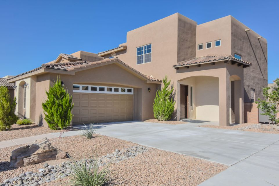 Twilight Model Home with all the upgrades located in the Valle Vista Community! Home features 2,848 sf with 4 bedrooms, 2.5 bathrooms and a huge loft! Gorgeous kitchen with upgraded espresso cabinetry and crown, granite countertops, stainless steel appliances, custom backsplash and center island with seating area! Open floorplan flows seamlessly into the spacious living area hosting a custom gas fireplace! 1st floor master suite with beautiful spa-like bath! Bath hosts dual sinks with over-sized vanity, large soaking tun and walk-in shower with a tile surround. Upstairs enjoy the great loft space perfect for a 2nd living area or playroom. 3 additional guest rooms and a private balcony! Landscaped backyard with covered patio!