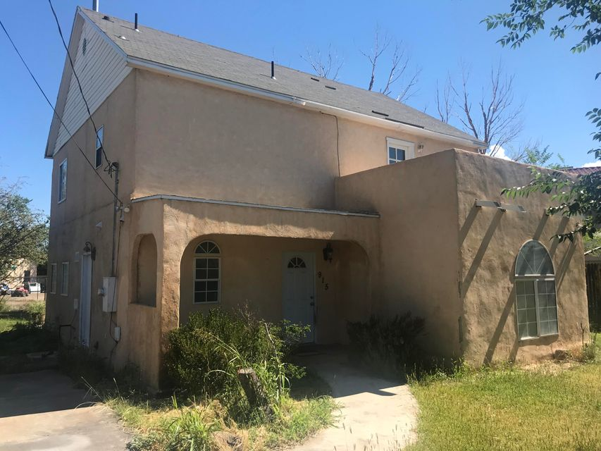 Great opportunity to own a home minutes from Old town, downtown, shopping, dining, museums, zoo and BioPark.  Large 3 bedroom 3 bath, well built home in need of some TLC.  Lush, mature landscaping including fruit trees surround the entire home.  ***Selling as is where is. No warranties or guarantees expressed or implied***