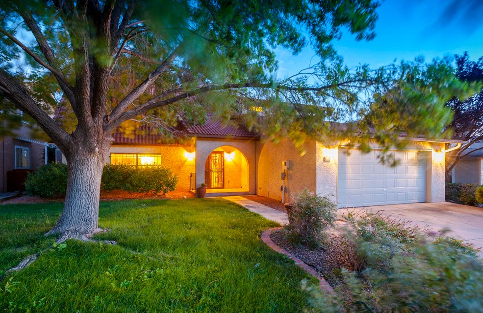Located in desirable NE Heights this 4 bedroom, 3 baths, 2 car garage and TONS of storage.  Highly sought-after school district, Large Open Floor plan W/ 1 bedroom and bath downstairs.  Lovely kitchen with stainless steel appliances.  Beautifully landscaped front and back yards.