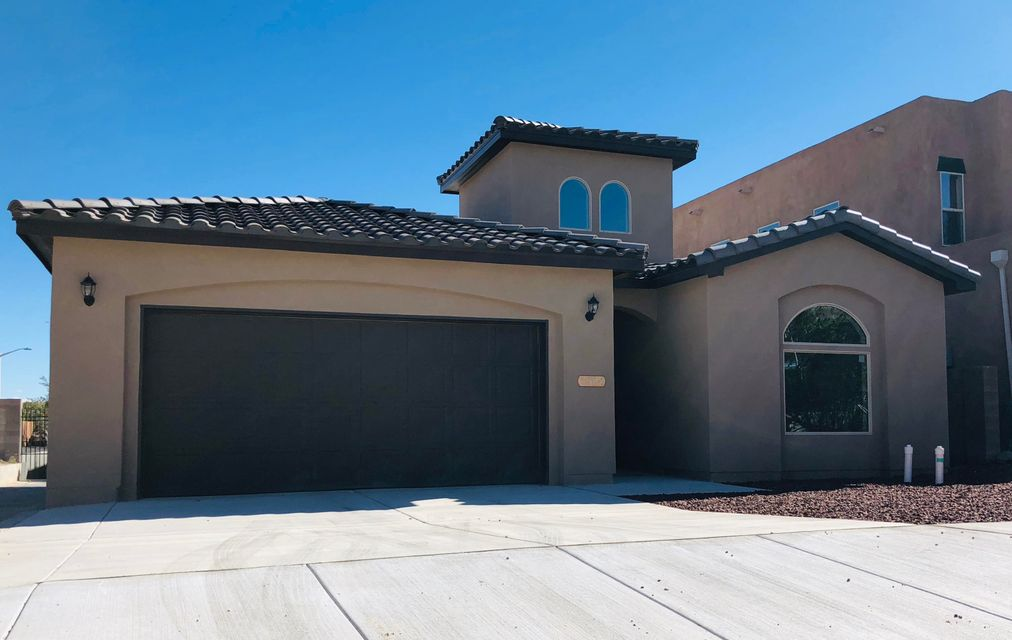 CONSTRUCTION COMPLETED!!!!  BRAND NEW HOME!  MOVE-IN READY!  Gorgeous New Home in intimate Paradise View HOA Community. Modern & sophisticated w/unique design. Near hospitals, parks, schools, food, shopping & Paseo access. Upgraded TILE Roof, Entry way w/ 20ft ceiling. Plank style tile flooring & carpeted bedrooms w/ vaulted ceilings.  Bright, open floor plan, niches, clerestory windows & skylights. 12ft. ceilings in kitchen & living room, recessed lighting, granite counters, kitchen island bar, tile backsplash, SS appliances & pantry. Dining area w/ wall sized picture window, glass sliders to gravel backyard & gas stub out for grill. Barn door to laundry service room w/ granite counters & extra storage. Split Master Bedroom.