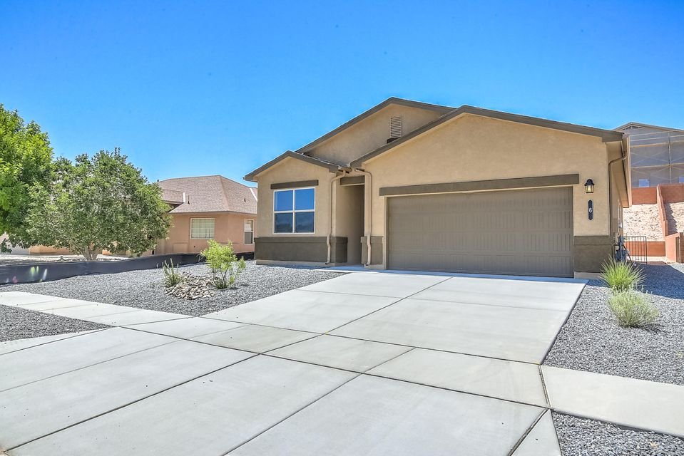 This home is proof positive that you truly do get more for your money in Los Lunas. This four bedroom two bath home offers 1537 sq. ft. of living space that is brand new and under a warranty. This home features many energy efficient features like advanced framing, 2x6 exterior walls, r38 attic insulation and double pane low e windows. This home also has refrigerated air so you no longer have deal with the humidity and poor cooling of the dreaded swap cooler. This home provides all the comfort and quality you have come to expect from DR Horton but at a much lower price.