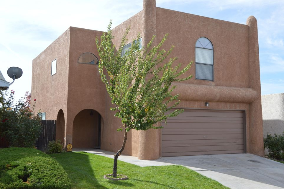 Inspections Completed, home is ready to move into..  4 Bedroom, 2.5 bath, 2 car garage. Country Kitchen, pantry, kitchen  opens to outdoor patio.  Open Family room with Gas Fireplace, ceiling fans, skylights,  Large bedrooms, walk in closets, ample storage throughout home,  laundry room upstairs, Large Master bath double vanity and Balcony off master bedroom, covered patio, grass, trees and waterfall.  Association offers Community Pool, Tennis court,  playground, miniature golf course, clubhouse,  Close To Schools And Shopping, Palomas Park.  Land on this Lot is Owned, Not leased. Water, sewer/trash is included in the HOA fee.