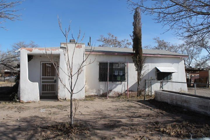 This 3 bedroom house has 1.5 bathrooms.  The living room has a cozy fireplace with insert.  The dining area is off the kitchen.  Laundry area in storage/shop.  Security bars.  Detached 2-car carport.  Large fenced lot is .30 acre.  The Seller must comply with HUD Guidelines 24 CFR 206.125.  Property is being sold as is.