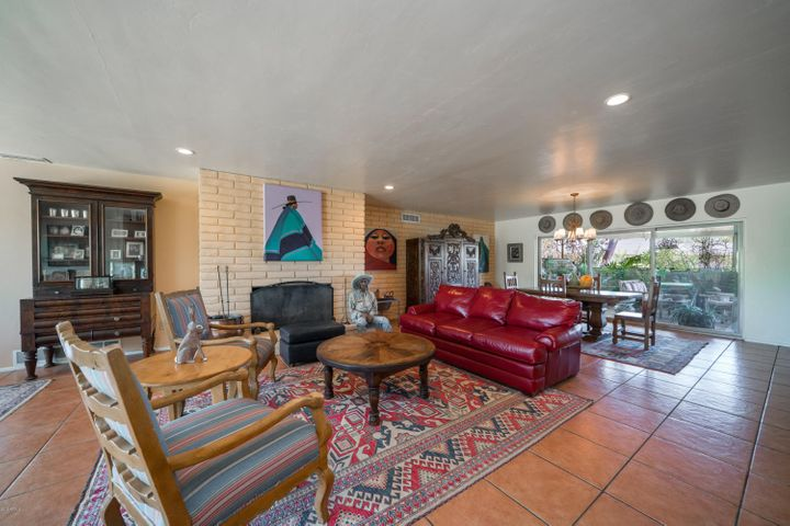 Large greatroom living with cozy fireplace