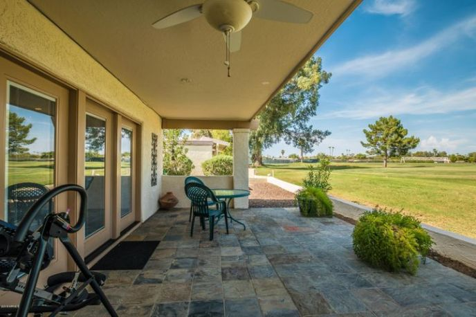 Backyard w/Covered Patio Opens to Golf Course
