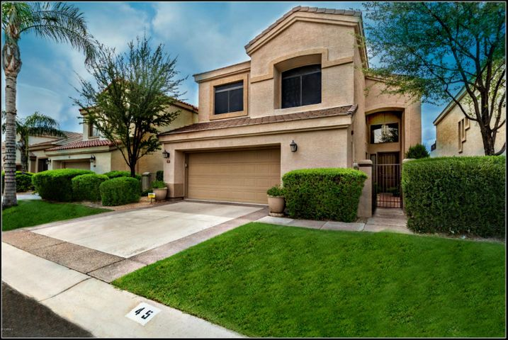 """Prepare to check off the boxes on your list of """"must haves"""" for your new Scottsdale home! Start with the European style Courtyard Entry and the gentle sounds of a fountain."""