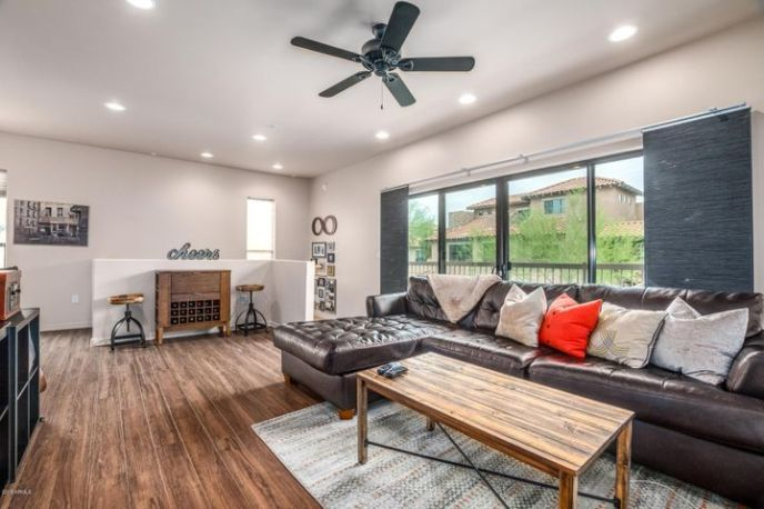 Light and Bright with lots of windows and recessed lighting!!