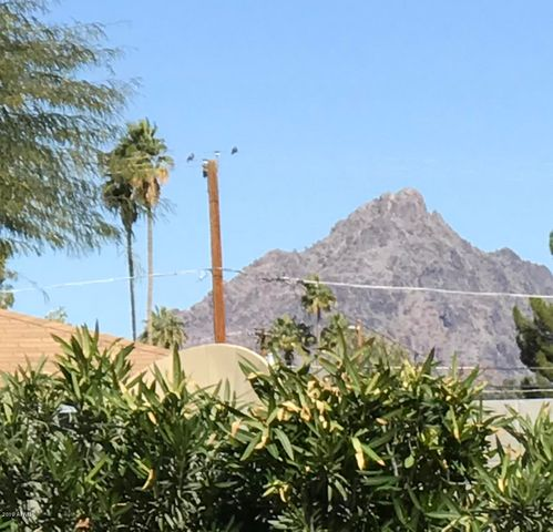 View of Piestewa Peak from the back yard