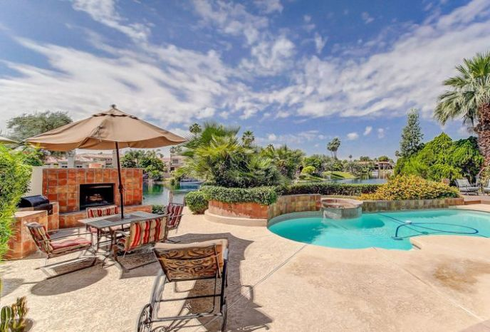Your own private oasis with spacious pool and backyard resort!