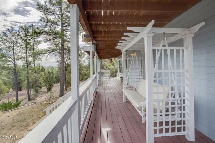Long view front porch