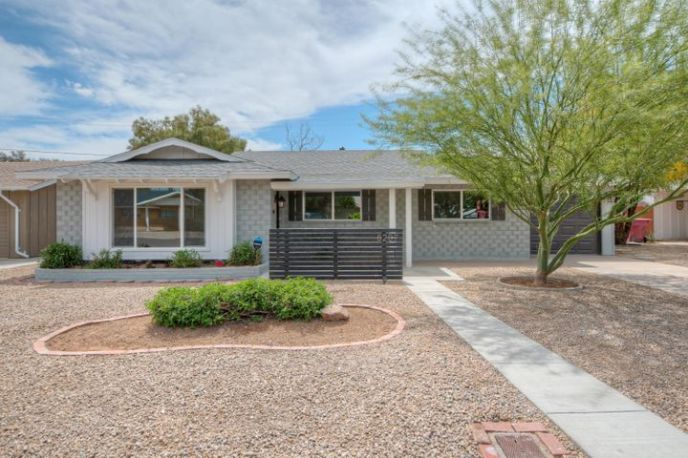 Gorgeous Front yard with private patio for those warm spring nights!