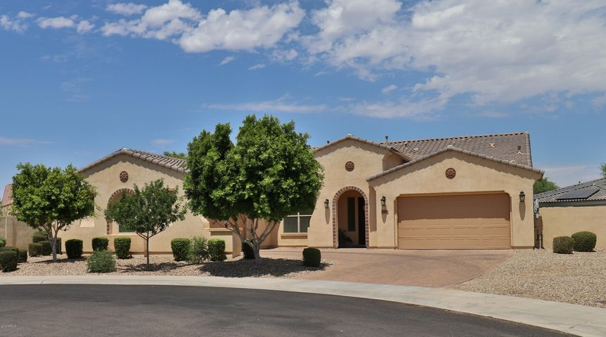 Front: Culdesac lot, over 22,000sf lot. RV gate and single side gate.
