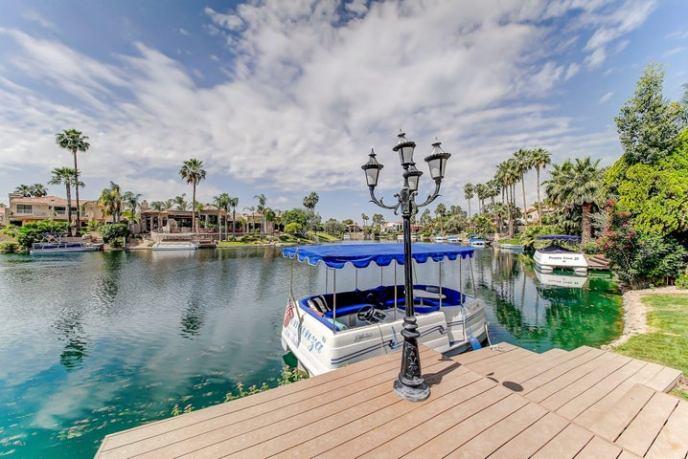 Boat dock and view of Lake Serena