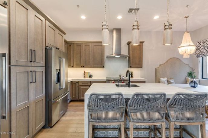 Gourmet cook's kitchen with top of the line appliances and finishes.