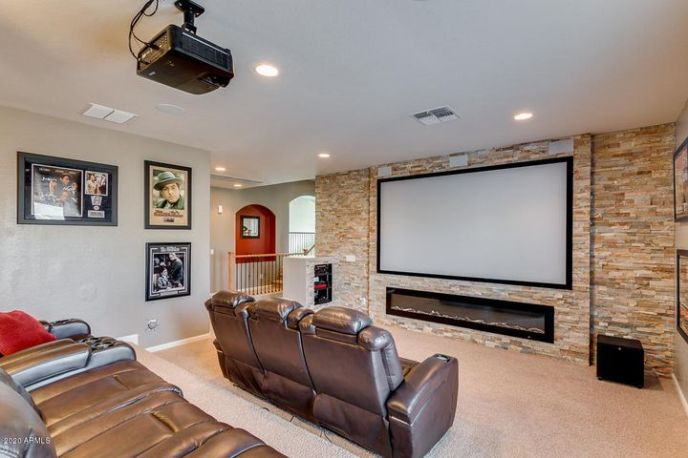 AND an electric fireplace!?!! WOW!! This space is AWESOME!