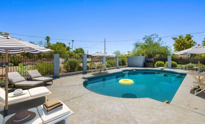 Large gated pool area to entertain! (Virtually staged furniture)