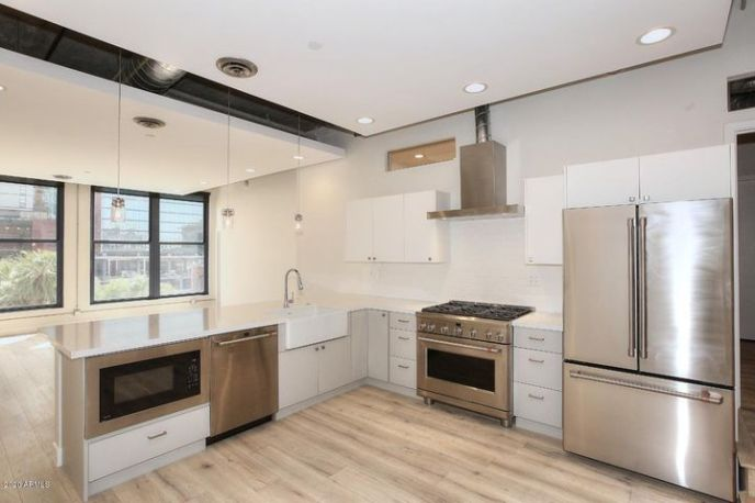 GE CAFE' Stainless Steel Appliances: Microwave, Dishwasher, 6 Burner Gas Cooktop/Electric Range/Hood & French Door Refrigerator.