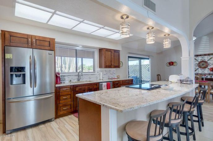 open and spacious remodeled kitchen