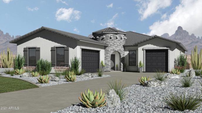 Modern Farmhouse Exterior Elevation Optional Upgrade costs $10,000.