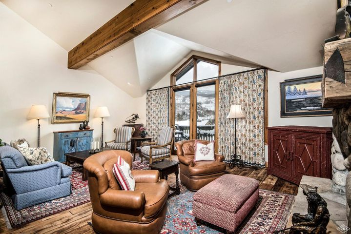 This rarely available townhome has been recently remodeled and is masterfully appointed. With abundant sunlight warming you as you rise; you have the opportunity to start your day with Gore Range and Vail Mountain ski slope views. Features include hickory floors, Custom kitchen and baths, Aspen Leaf Cabinetry , Water Works plumbing fixtures, Carrera Marble and an additional bonus room. Conveniently located to Vail's shopping district and walking distant to the Vail bus route. See remodel list.