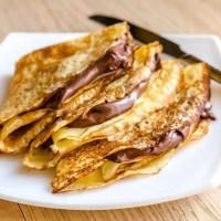 Ingredienti per Crepes alla nutella: ricetta per 2-4 persone