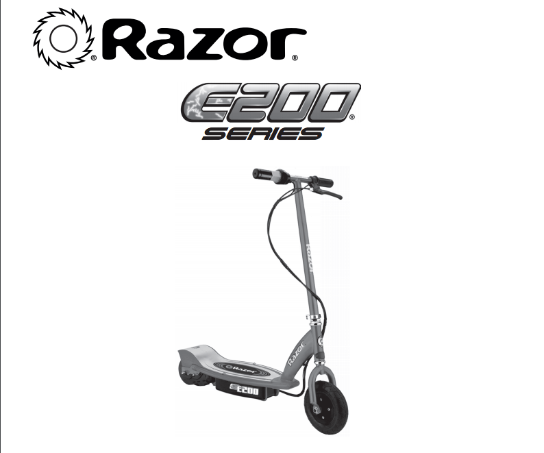 Razor E100 Electric Powered Scooter with Rear Wheel Drive