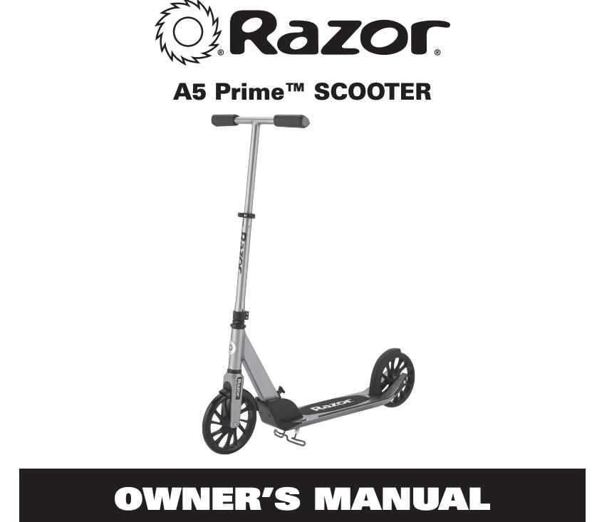 Razor A5 Prime Anodized Aluminum Adult Kick Scooter
