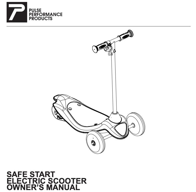 Pulse Performance Licensed Safe Start Electric Scooter