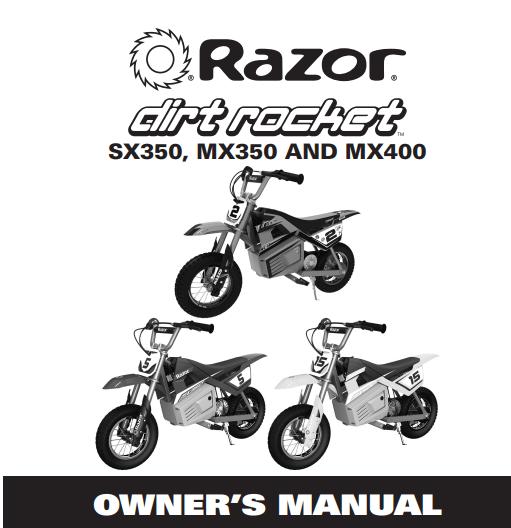 Razor MX350 24V Dirt Rocket Electric Ride on Motocross