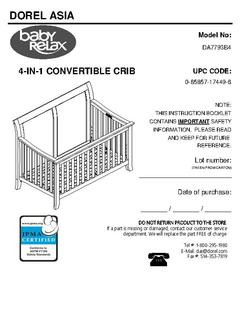 Baby Relax Hollis 4-in-1 Convertible Crib, Graphite gray