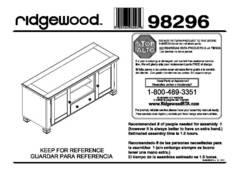 Ameriwood Home Summit Mountain Wood Veneer TV Stand for