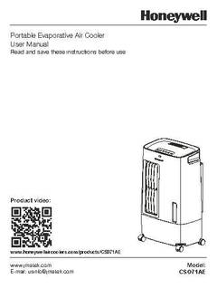 s plan wiring diagram honeywell rb20det maf cso71ae 176 cfm 100 sq ft indoor portable evaporative air cooler swamp with remote control white gray walmart com