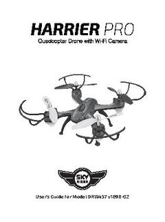 Sky rider harrier pro quadcopter drone with wi-fi camera