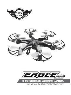 Sky Rider Eagle Pro 6-Rotor Drone with Wi-Fi Camera