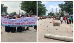 RMG workers stage demo, block Dhaka-Sylhet highway