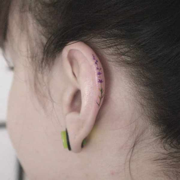 helix ear tattoos newest
