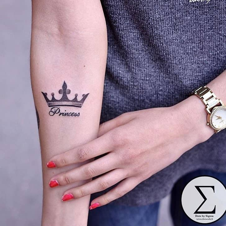 Image Result For Queen And Princess Crown Tattoo Tattoo T