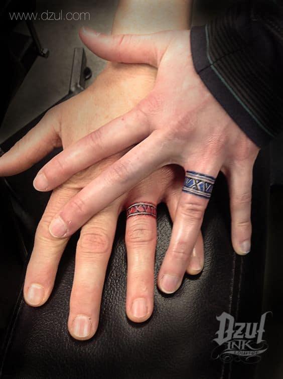 30 Touching And Sweet Wedding Ring Tattoos Ritely