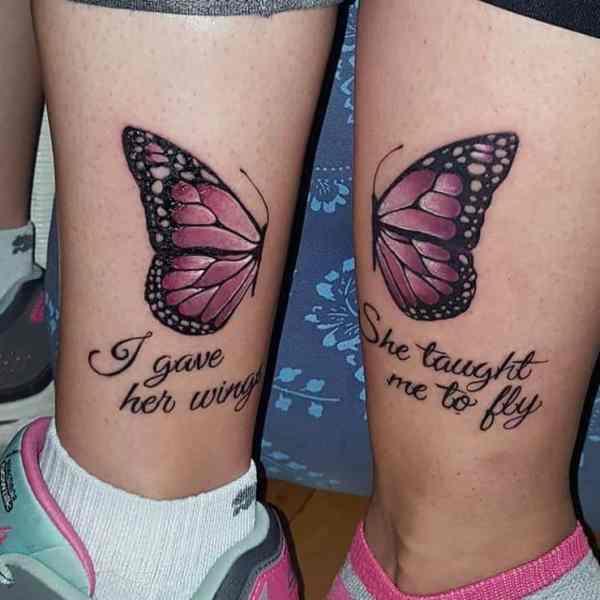 mother-daughter tattoos marking