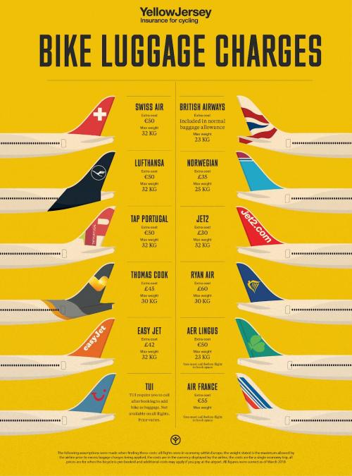 small resolution of bike luggage charges for air travel infographic png