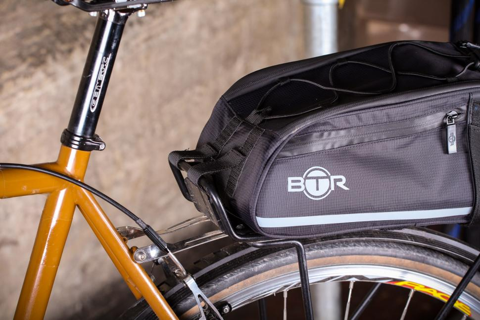 review btr waterproof bicycle rear