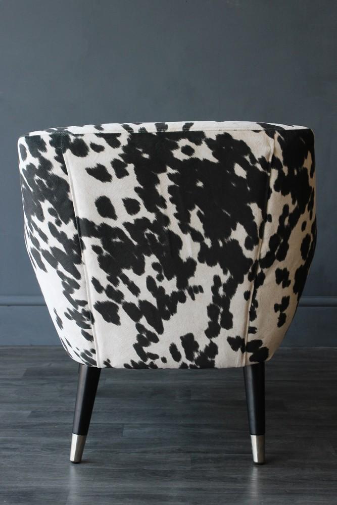 Faux Cowhide Vintage Style Armchair  Rockett St George