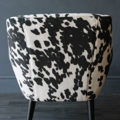 Cowhide Chairs Uk Hanging Chair Deck Faux Vintage Style Armchair Rockett St George