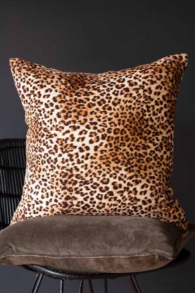 rockett st george leopard love leopard print velvet cushion