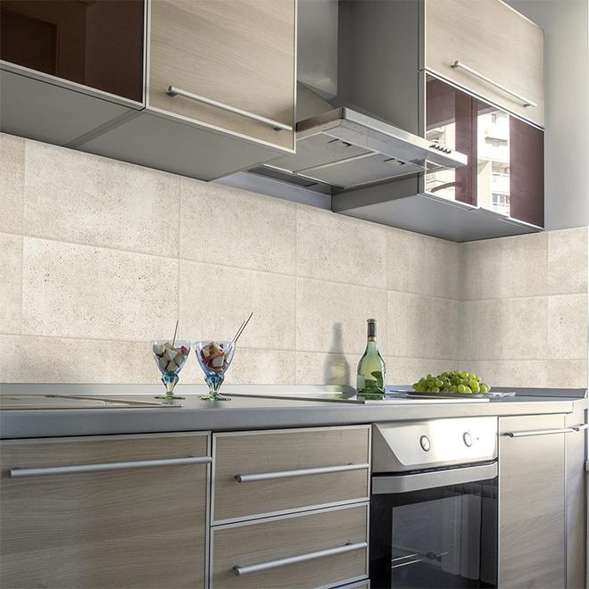 smart tiles adhesive wall tile 22 56 x11 38 beige