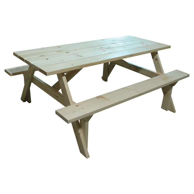 outdoor picnic table pine wood 6