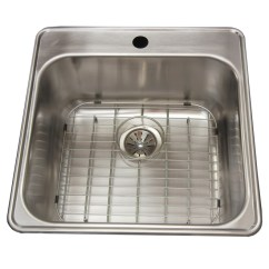 Single Sink Kitchen Commercial Hood Cleaning Services Wessan 1 Hole Grid 20 5 X 8 9 Steel Jr604d9g1 Rona