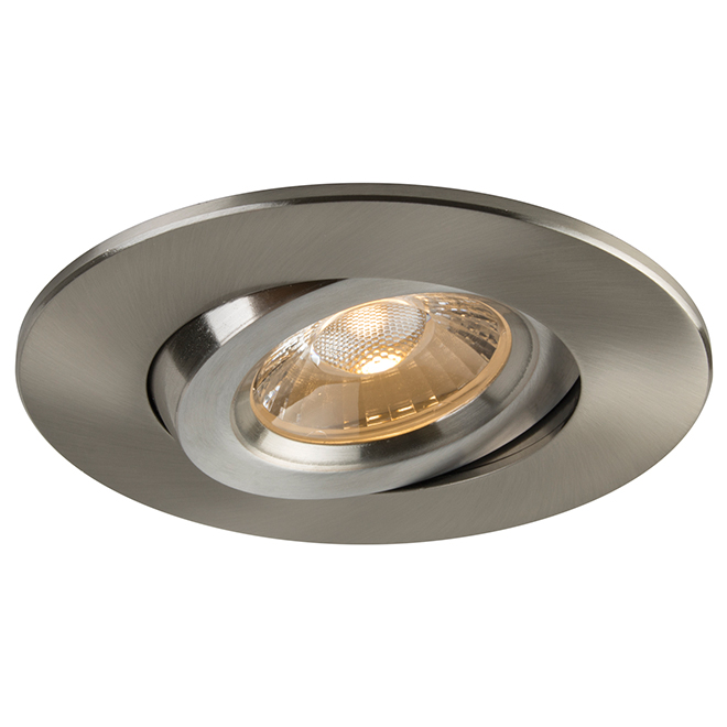 retina dimmable led recessed light 4 brushed nickel