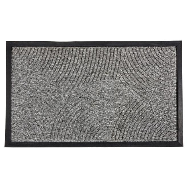 tapis en caoutchouc naturel pour l exterieur gris